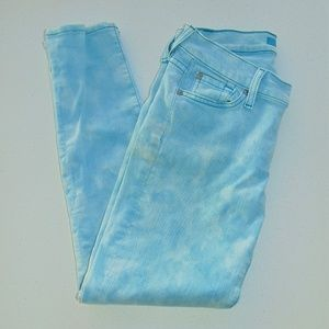 7 For All Mankind Blue & White Skinny Jean